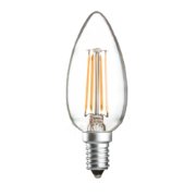 4w SES (E14) LED Candle Bulb Clear - 400  lumens